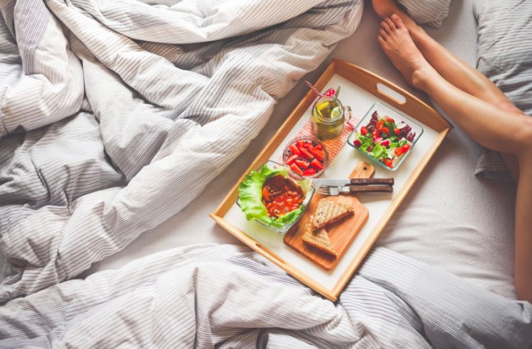 example of DASH meal in bed