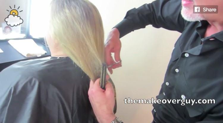 The Makeover Guy cutting Paula's hair