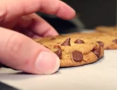 Photo of broiled chocolate chip cookie.