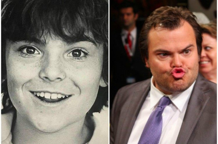 Jack Black then and now