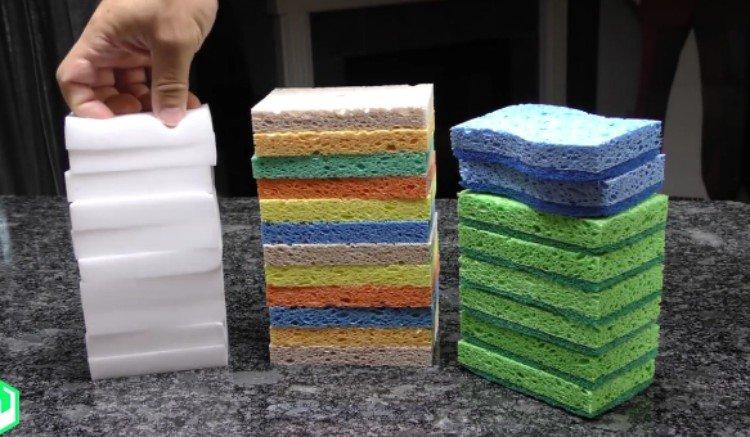 Image of sponge stacks.