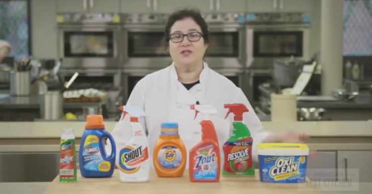 Cleaning products tested.
