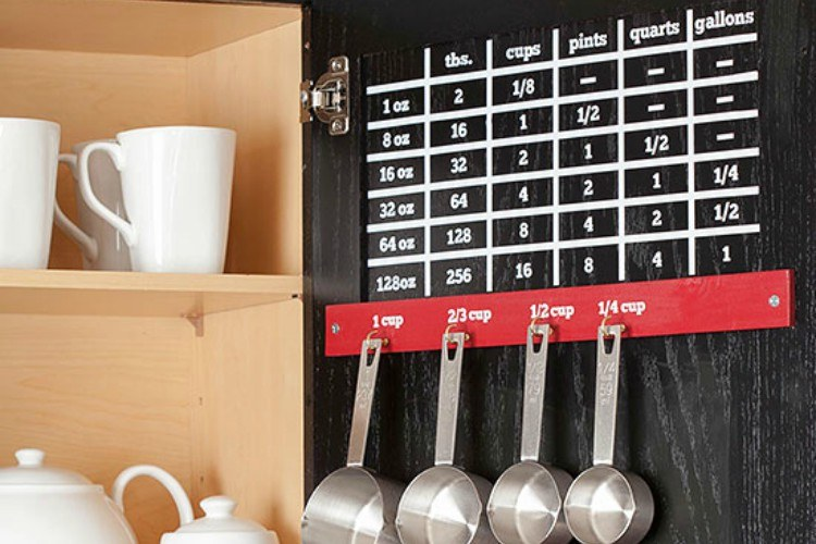 Use hooks for hanging utensils and spoons