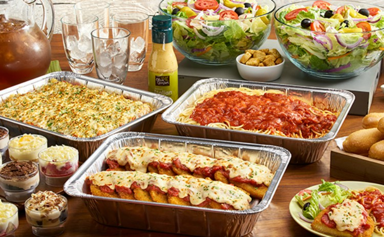 Image of Olive Garden Italian food catering.