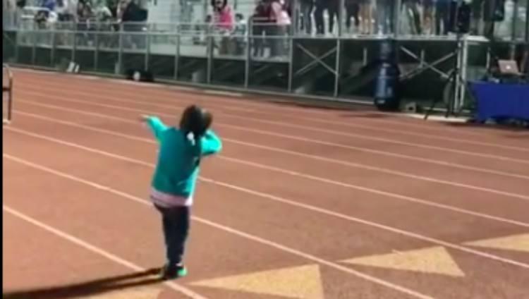 Anessah dances on track