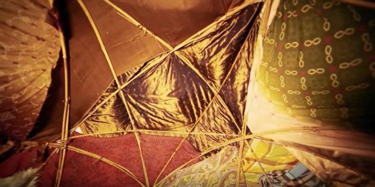 yurt inspired tent house ceiling