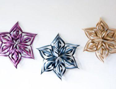 How to make a DIY giant snowflake decor.