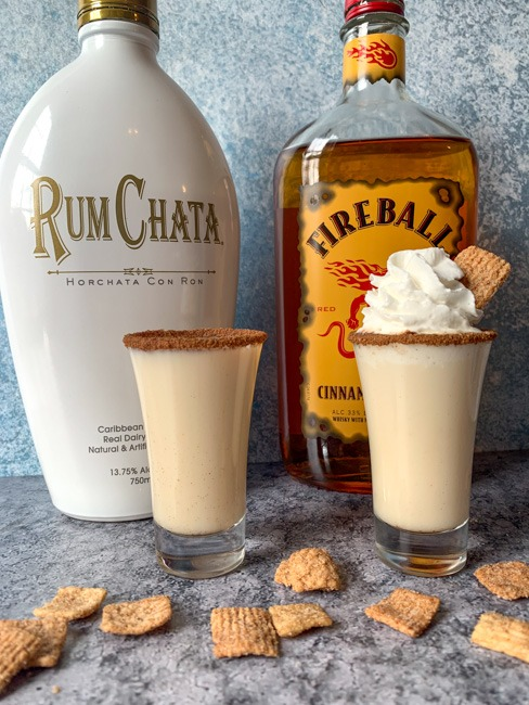 Cinnamon Toast Crunch Shot with Bottles