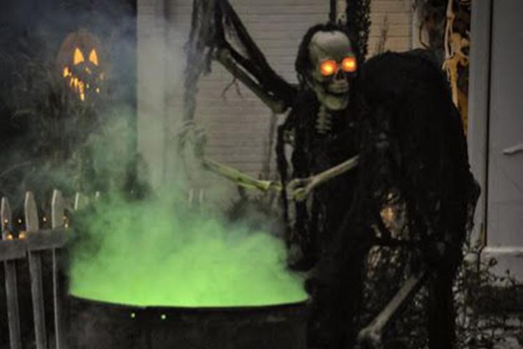 skeleton cauldron