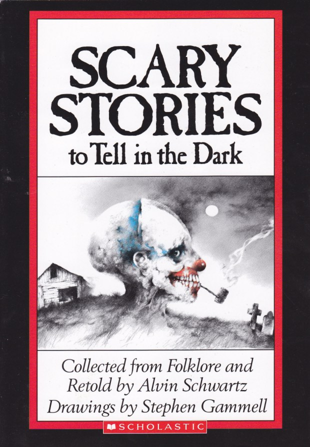 Cover of a classic scary stories book.