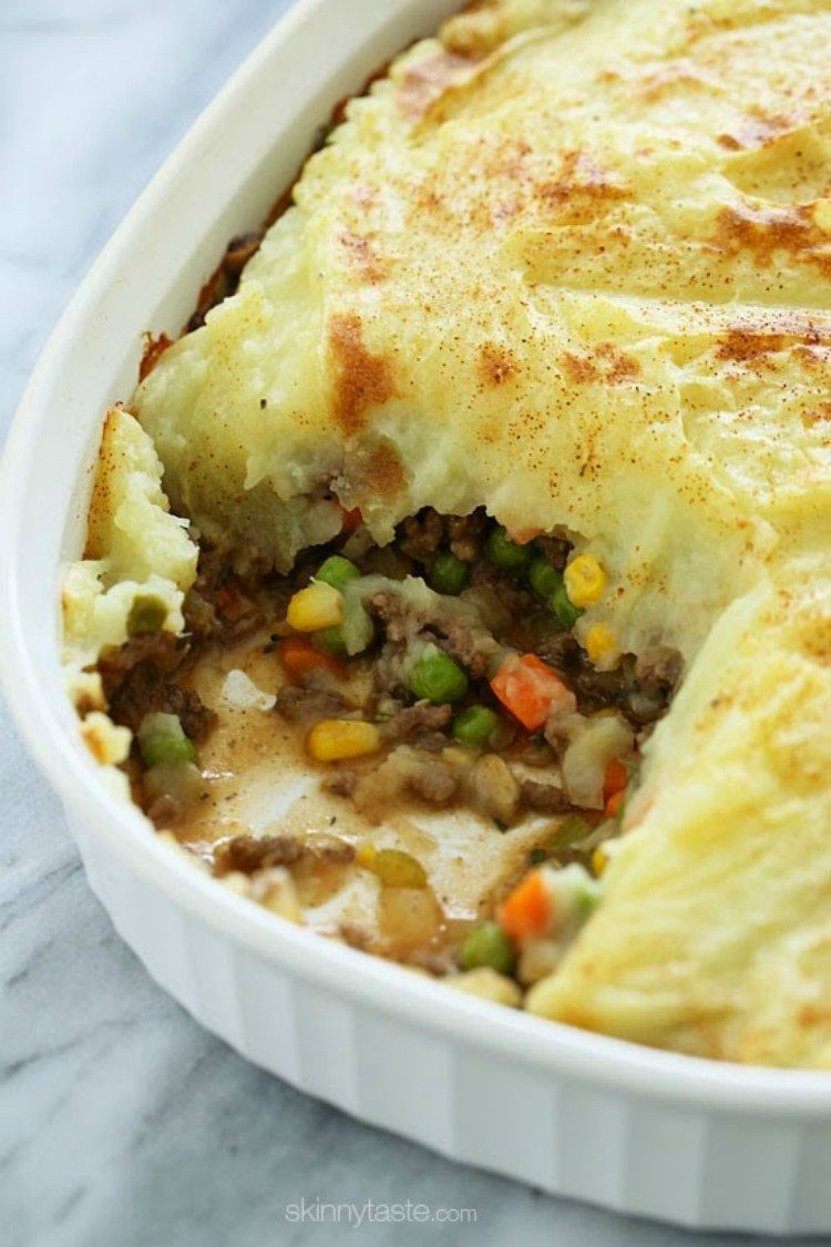 Shepard's pie made with ground turkey.