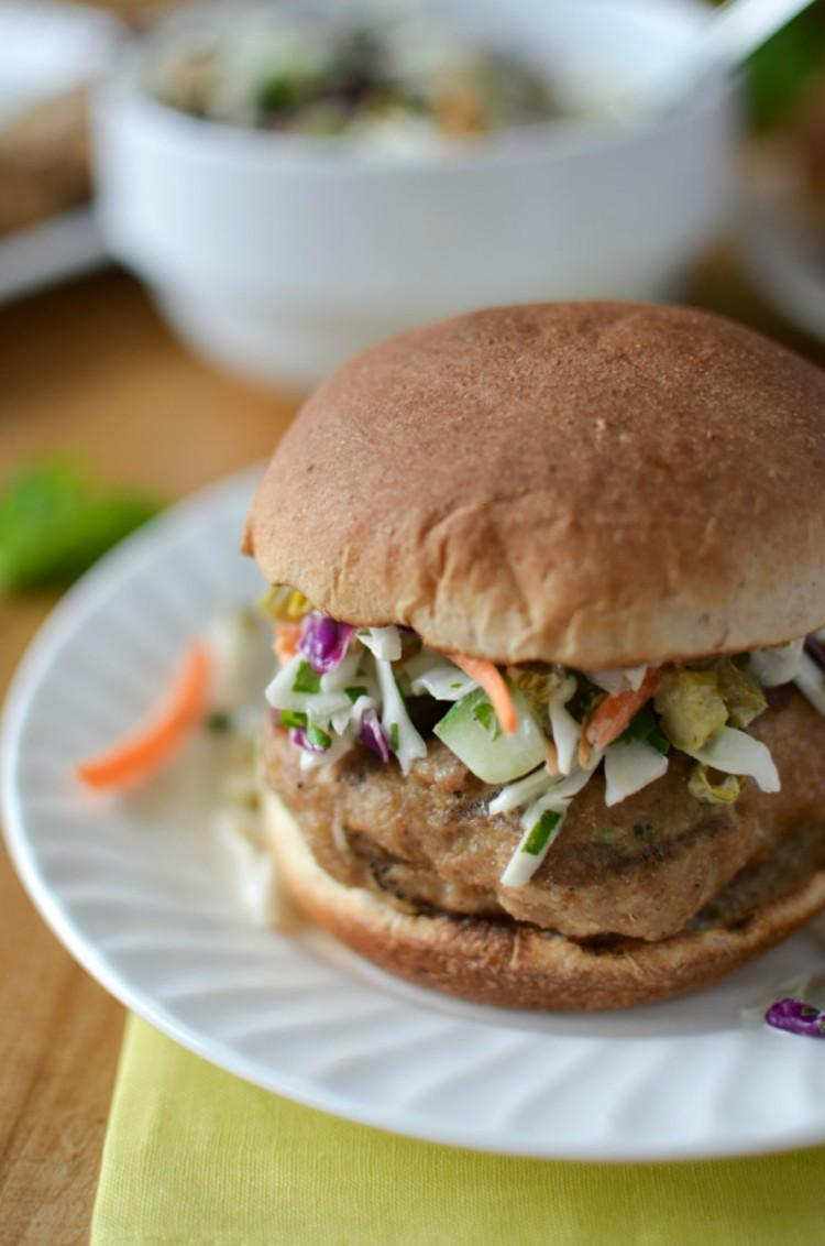 Fresh banh mi turkey burger.