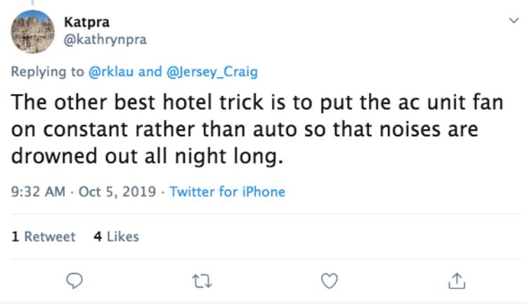 hotel hack tweet