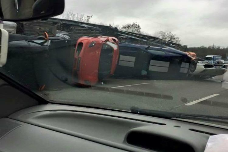 bad day spilled cars