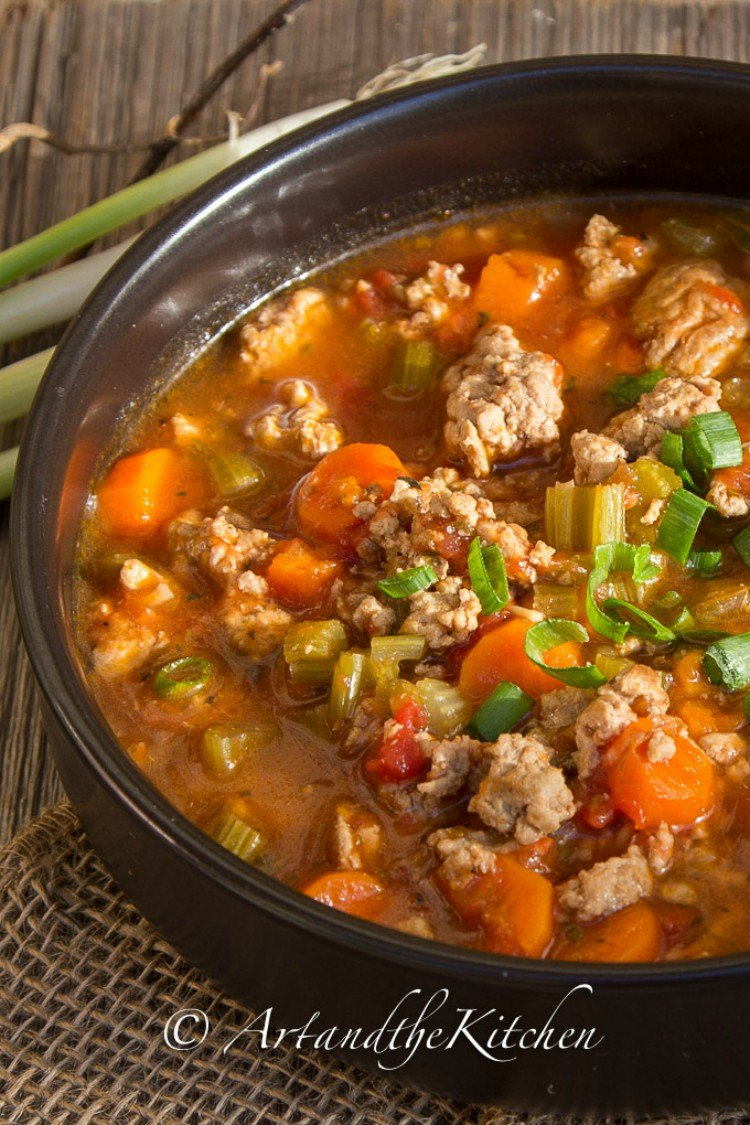 Italian turkey burger soup.