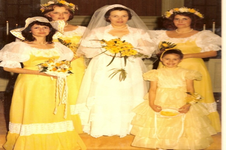 bridesmaid yellow hat