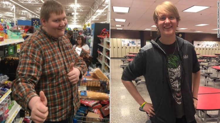 Image of before and after weight loss