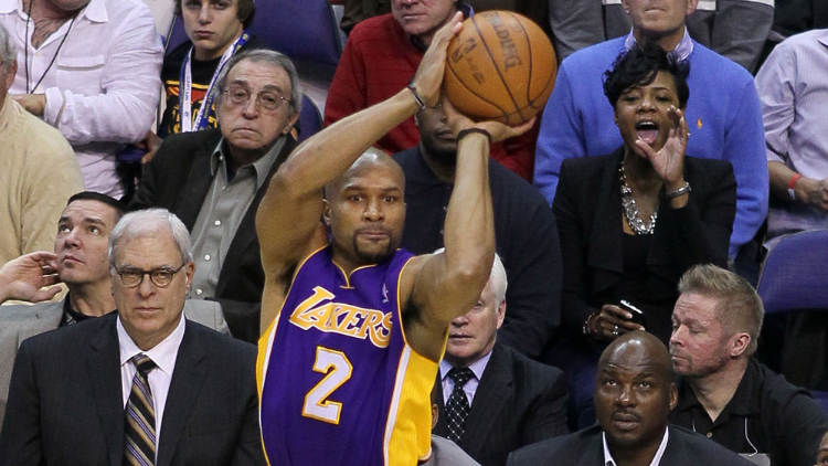 Derek Fisher with the Los Angeles Lakers