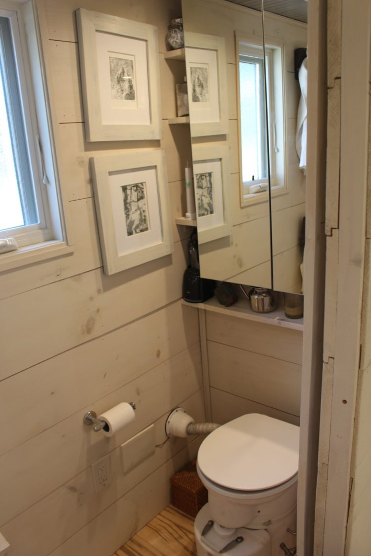 Image of bathroom in tiny house