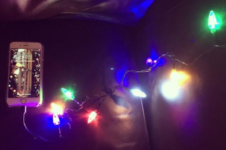 Pic of LED Christmas lights phone charger.