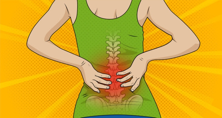 Image of person with lower back pain.