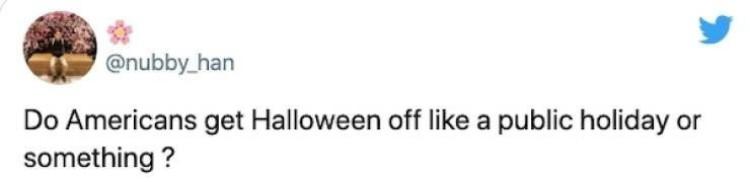 Halloween tweet