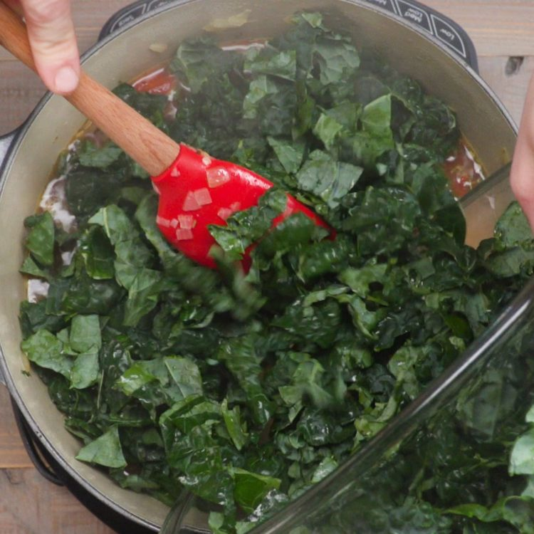 Tuscan Bean Soup adding kale