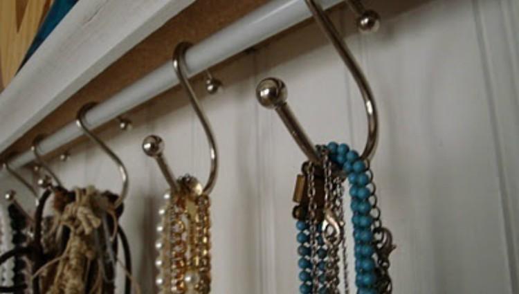 curtain rod jewelry orgaznier
