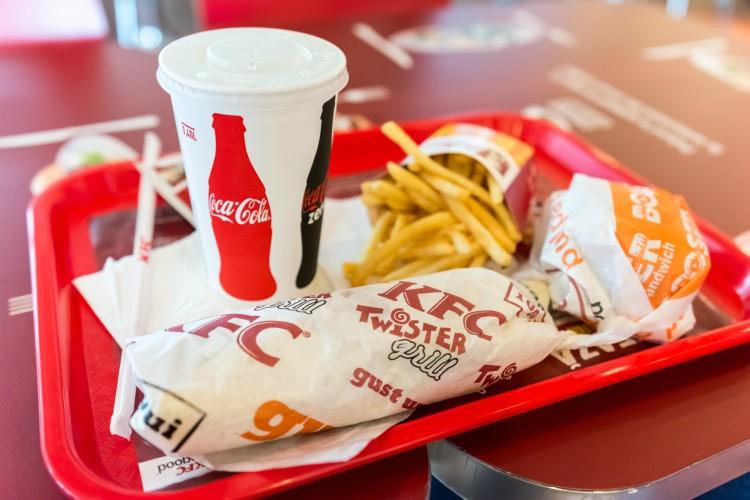 Image of KFC food.