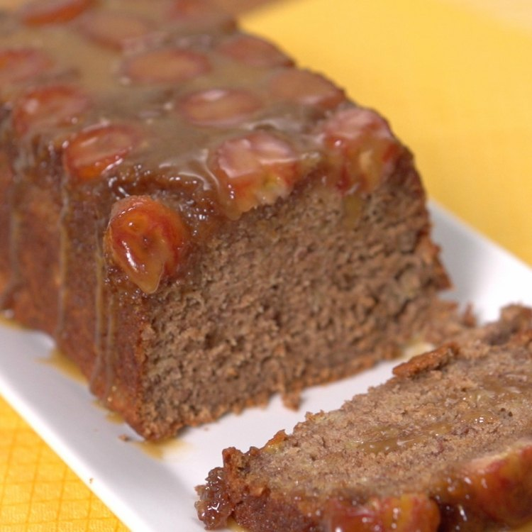 Sliced Upside-Down Banana Bread