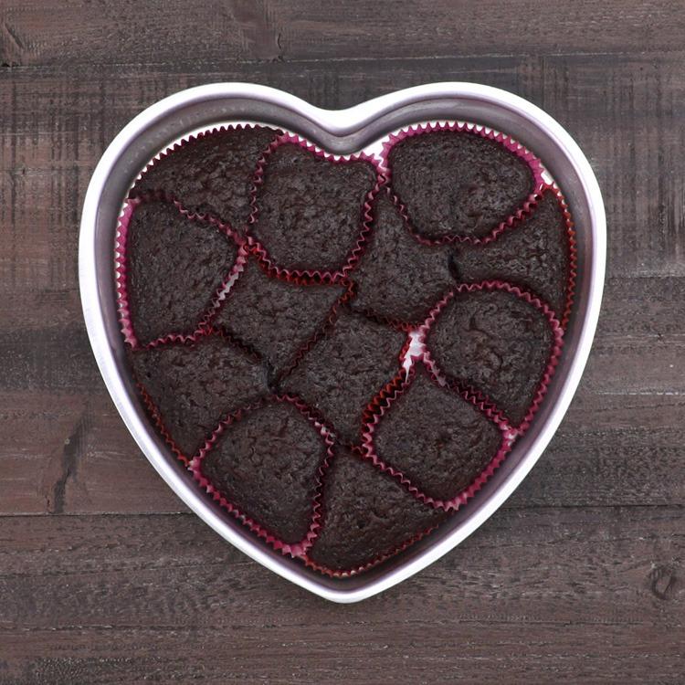 Heart-Shaped Pull-Apart Cake baked cake