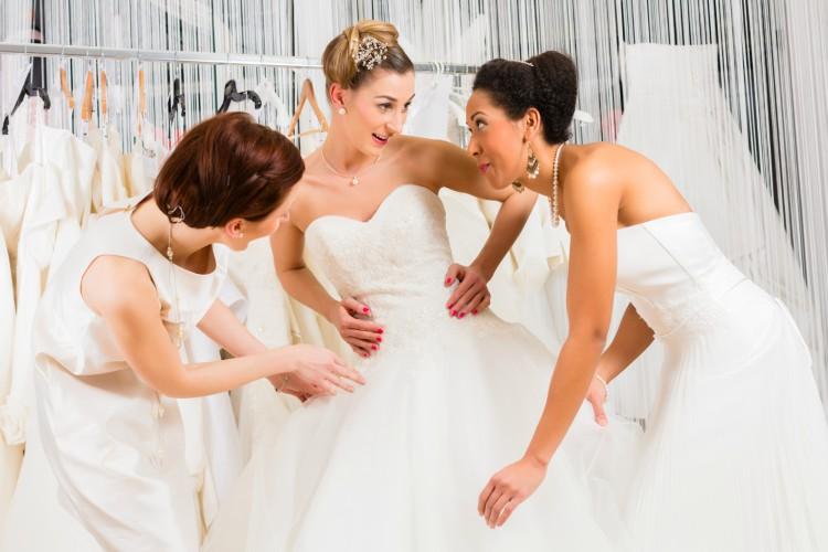 Image of women in wedding dresses
