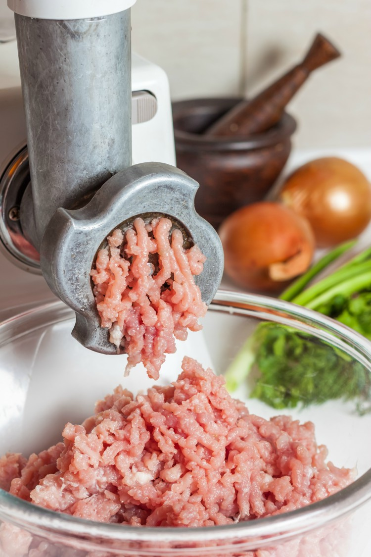 Image of grinding meat.