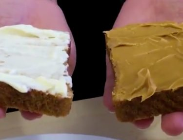Image of a peanut butter and mayo sandwich