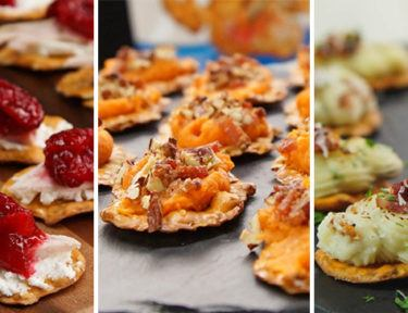 Pretzel Crisp® Thanksgiving Leftover Appetizers with Snack Factory®