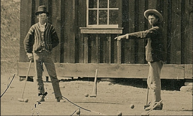 Billy the Kid close-up playing croquet