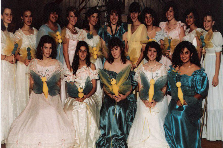 bridesmaids butterfly