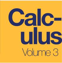 Calculus, Volume 3