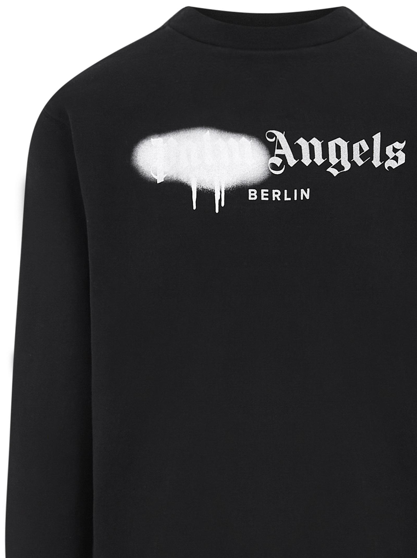 Palm Angels Sprayed L/S Sweatshirt Palm Angels | -108764232 | PMBA001F20FLE0031040