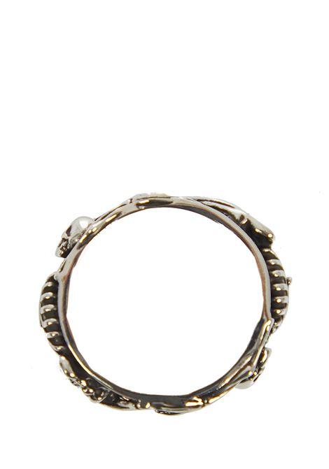 Alexander McQueen Dancing Skeleton Ring  Alexander McQueen   201   575539J160Y0446
