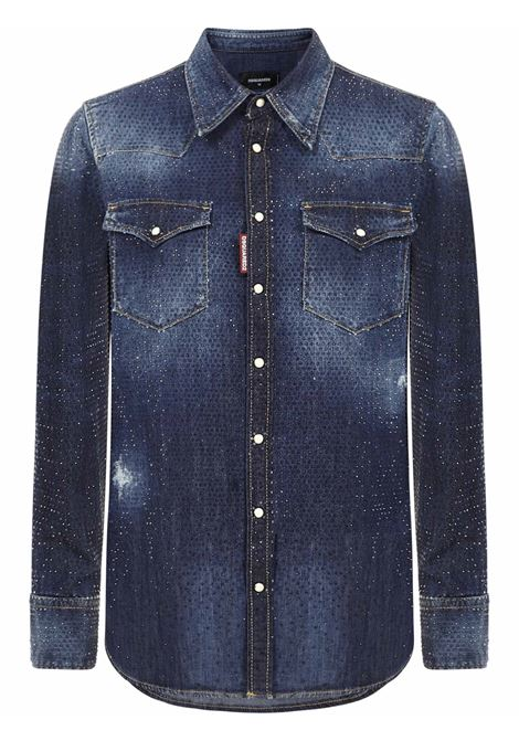Dsquared2 Crystal Western Shirt Dsquared2 | -1043906350 | S75DL0735S30341470
