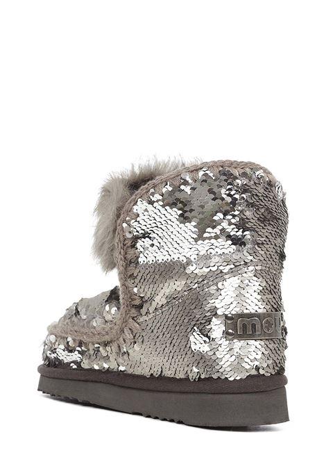 Stivali Mou Eskimo 18 Sequins & Rabbit Fur Trim Mou | -679272302 | MUFW101015GSEQGUN
