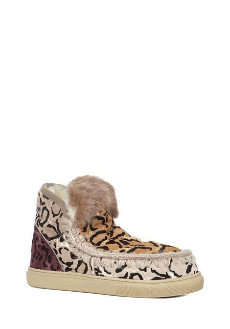 Sneakers Mou Eskimo Sneaker Ponyskin Mix Patchwork Mou | 1718629338 | MUFW111007DBLSAN