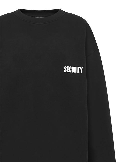 Vetements Security sweatshirt Vetements | -108764232 | UAH21TR5281601BLACK