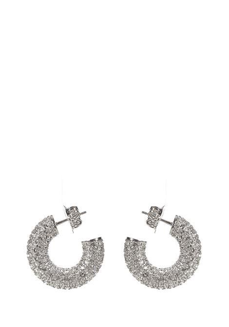 Amina Muaddi Cameron Mini Earrings Amina Muaddi | 48 | CAMERONHOOPMINISILVER