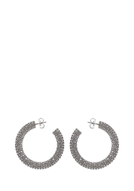 Amina Muaddi Cameron Medium Earrings Amina Muaddi | 48 | CAMERONHOOPMWHITE