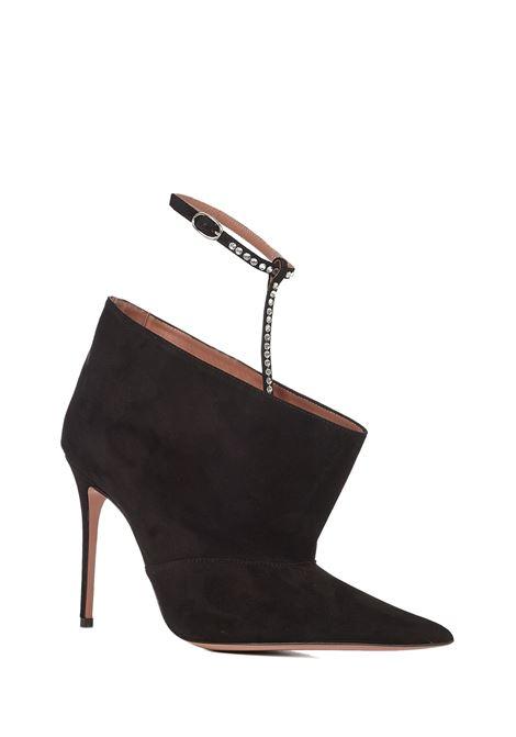 Amina Muaddi Chiara Crystal Boots Amina Muaddi | -679272302 | CHIARACRYBOOTIBLACKWHITECRYSTAL