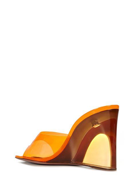 Amina Muaddi Lupita Glass Sandals Amina Muaddi | 813329827 | LUPITAGLASSORANGE