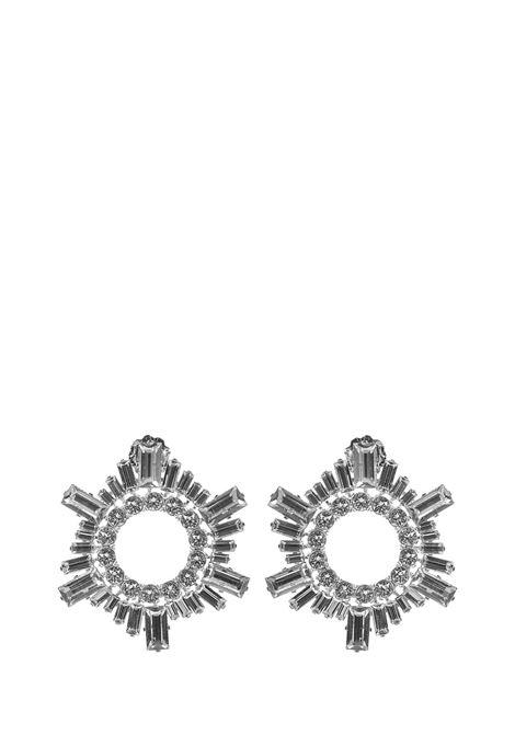 Amina Muaddi Mini Begum Earrings Amina Muaddi | 48 | MINIBEGUMWHITE
