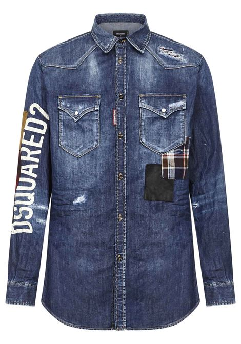Dsquared2 Patch Relax Dan Shirt Dsquared2 | -1043906350 | S71DM0480S30341470